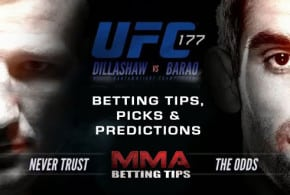 "Betting Results For UFC 177 – <strong><font color=""green"">4.60 Units Profit</font color></strong>"