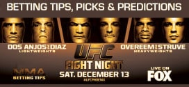 Premium Betting Tips & Picks For UFC on FOX 13