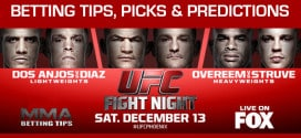 Free Betting Tips & Picks For UFC on FOX 13