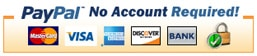 Payments processed via Paypal